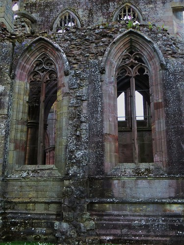 Abbaye gothique de Melrose (XIIIe), Melrose, Scottish Borders, Ecosse, Royaume-Uni.