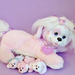 1991 Puppy Surprise (Hasbro) (The Barbie Room) Tags: pink dog baby puppy mom puppies babies purple mother mum surprise 1991 1990s 90s hasbro