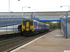 Northern Rail 156438 at MetroCentre (CoachAlex1996) Tags: light england train newcastle diesel metro north transport rail railway tyne class system wear east transportation multiple network passenger northern 156 unit metrocar