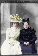 Girls (gordon_morales) Tags: girls glass hat fashion dress plate negative nankervis