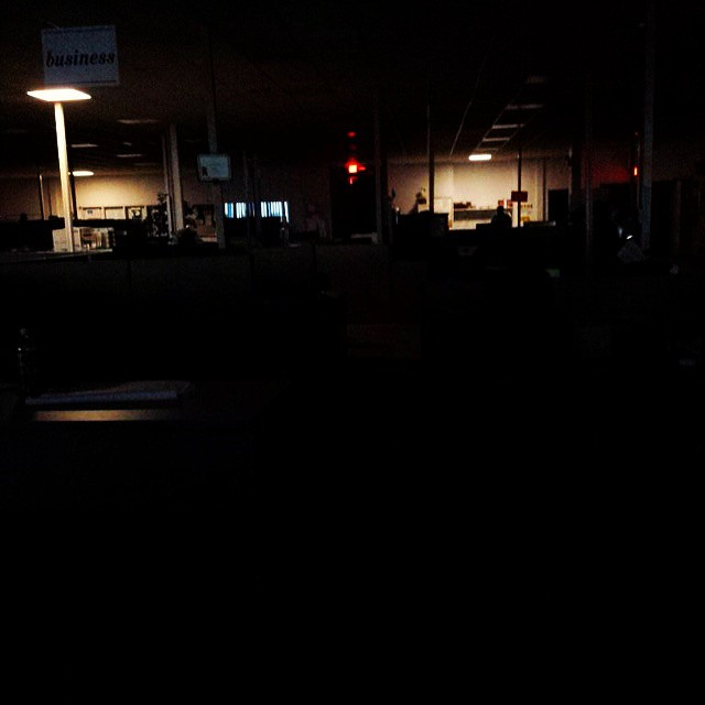 APRIL FOOLS Day prank or typical power outage at pueblo cheiftain?????