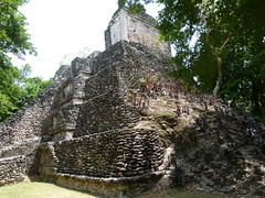 Side view of the Temple of the Lintels (Toats Master) Tags: archaeology mexico ruins mayan historical costamaya dzibanche
