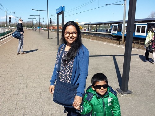 Waiting for train in Amsterdam Rai