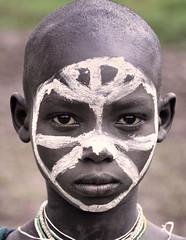 Surma Boy, Tulgit, Ethiopia (Rod Waddington) Tags: africa boy portrait face village african painted traditional tribal valley afrika omovalley ethiopia tribe ethnic surma ethnicity afrique hornofafrica ethiopian omo etiopia surmi tulgit