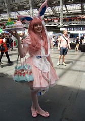 Hyper Japan 2016 6 (Terterian - A million+ views, thanks.) Tags: kensington london capital city uk olympia victorian exhibition centre venue hyper japan 2016 july japanese nippon nipponese culture pastel childlike innocent costume tradition festival art music martial pretty beautiful sexy lolita lollita girls female woman attractive happy smile alternative fashion fashionable models bunny rabbit ears cookies plate cake pink cupcakes