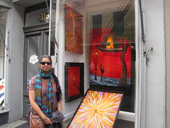 New Orleans-15.03 (davidmagier) Tags: usa sunglasses scarf louisiana neworleans paintings ponytail aruna