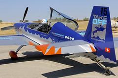 IGUALADA-ODENA. (LEIG) (Josep Oll) Tags: fotos extra spotting airfield aerobatics igualada avioneta anoia spotters acrobacia odena aerdromo acrobtico leig biplaza extra330