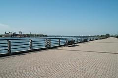 Liberty State Park (Linda Moll Walker) Tags: memorial jerseycity libertystatepark emptysky