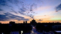 To Urban Twilight (Lojones13) Tags: new york sunset sky urban cloud newyork clouds twilight nikon outdoor bronx d7000