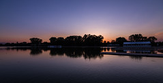 Rowing Canal - Plovdiv (blooddrainer) Tags: sunset summer sky sun nature water landscape lights mirror canal bulgaria rowing plovdiv