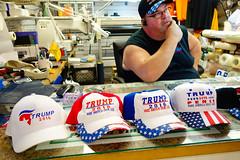 Trump 2016 Hats (Garret, Stranger 1/100) (justinlangston336) Tags: werehere renningers kutztown text trump 2016 hats red white blue stranger1100 strangerproject 100strangers