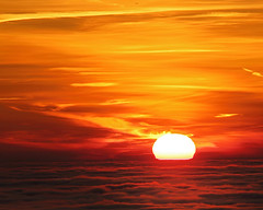 Towards hope (Robyn Hooz (away)) Tags: sunset tramonto nuvole nebbia sun sole fog clouds yellow red romance romantico hope beauty bellezza padova italy