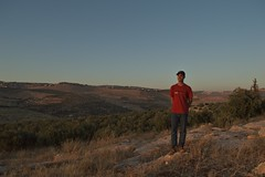 Me at al Fa7is (Yazan_) Tags: trees portrait mountains me grass rural landscape rocks empty amman middleeast olive hills jordan boulders isolated mena