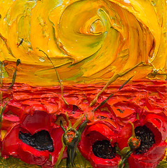 WF12X12-2016-153 (Justin Gaffrey) Tags: poppies poppyfield flowers wildflowers florals art painting artist justingaffrey acrylicpaint nature red gold 30aart 30a sowal florida floridaart