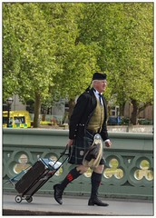 A Scotsman and His Sporran ... (junepurkiss) Tags: london westminsterbridge scotsman scottishdress scotsmanandsporran