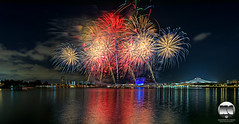 NDP Preview 2016 Fireworks (kenneth chin) Tags: singaporeindoorstadium nikonsingapore sg51 tanjungrhu kallangriver nationalstadium fireworks ndp2016 nikon d810 nikkor 1424f28g singapore asia city yahoo google
