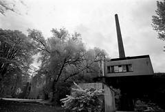 Old factory (gborgskij) Tags: ir rollei 400 d76 11 10min nikon ft2 20mm frlunda film gothenburg analog infrared irfilter