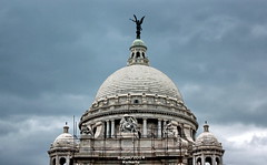 Dome with Angel of Victory on top (sajan-164) Tags: top dome victoria memorial hall kolkata west bengal india sajan164 angelofvictory