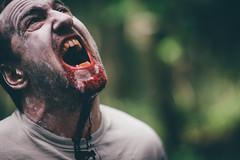 Roaring Zombie (sfp - sebastian fischer photography) Tags: horror portrait twinturbo zombie zombies zwillinge twins blood gore creepy vsco samyang samyang85mmf14 85mm scary