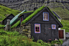 Traditional Faroese Turf House (Baron Reznik) Tags: abode architecture builtstructure colorimage dwelling europa europe faroeislands frerne froyar greenroof hdr horizontal house kunoy kunoyvillage kun livingroof nature residence roof sodroof sonyfe24240mmf3563oss structure traditional turfroof womanisland