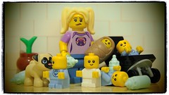the babysitter #fail (legophthalmos) Tags: lego baby babysitter pug