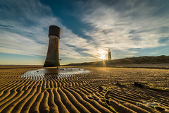 Spurn Point sunrise (tbnate) Tags: tbnate nikon nikond750 d750 samyang saymang14mm 14mm spurn spurnpoint spurnnationalnaturereserve point lighthouse beach water seaside sea seascape clouds sun outdoor outside landscape sand sky goldenhour eastridingofyorkshire yorkshire nature reserve sunrise