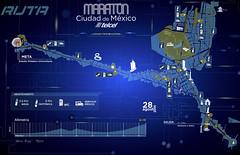 Ruta Maratón Ciudad de México 2016 (RunMX.com) Tags: ruta maraton cdmx ciudaddemexico 42k 2016 mapa altimetria mexico