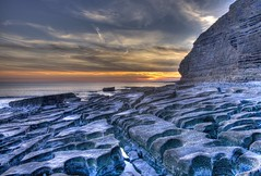 Two Friends Lost at Sea (pauldunn52) Tags: ogmore cliffs southerndown sunset eroded limestone