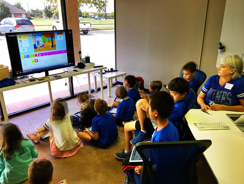 PBS Scratch Jr Coding Camp by Wesley Fryer, on Flickr