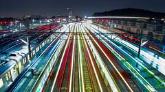 End of The Day - Returning trains back to Nagatsuda Railyard (aotaro) Tags: nagatsuda livecomposite omdem1 yokohama railroadyard nagatsudarailyard railyard rushhour rushhourperiod returningtrains japan