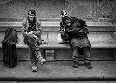 #NY (teedee.) Tags: new york strret people smiling happy have nothing homeless