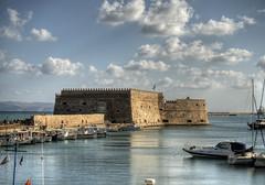 The Venetian Fort, Crete (neilalderney123) Tags: 2016neilhoward greece crete fort venetianfort water landscape olympus omd