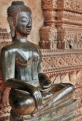 Laos - Vientiane - Haw Pha Kaew Buddha Image (zorro1945) Tags: art statue museum asia buddha religion culture buddhism carving asie laos lao mekong vientiane buddhaimages hawphakaew