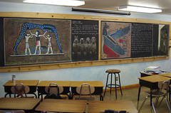 5th Grade: Ancient History and Mythology; Egypt (ArneKaiser) Tags: chalk edited waldorf egypt 5thgrade chalkboard chalkdrawings boarddrawings pineforestschool mrkaisersclass ancienthistoryandmythology
