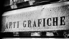 Arti Grafiche (GDShot) Tags: bw monochrome blackwhite liguria plate genova l arti ef f4 luoghi regioni 24105mm grafiche