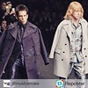 Love it!! #Hansel is so hot right now! Cant wait for #Zoolander2. Repost from @mukhaircare by #Reposter @307apps Who else loves this finale as much as we do?? Derek Zoolander and Hansel Close are back - hair better than ever closing the #Valentino Show a