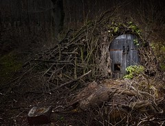 Hut in the woods (lovestruck.) Tags: woods doors