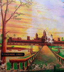 Street Art Stockmore Street: Angkor Wat (virtually_supine) Tags: contest14graffitiandstreetartdarksideofthelightchallenge streetart graffiti angkorwat stockmorestreet cowleyroad oxforduk eastoxford texture layers postprocessing photoshopelements9 pse9 urbanart artonbuildings enteredinsyb