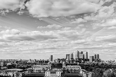 Eastender! (ako_ni) Tags: uk sky bw panorama white house black london history college architecture modern clouds buildings back time south greenwich culture quay queens maritime wharf historical docklands canary museums eastend sigma1770mm canoneos450d