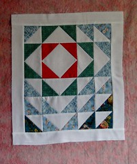 Kimberly's Mini (KoKo Toby) Tags: square flying geese quilt mini half scrap quiltblock miniquilt tiangle aurifil