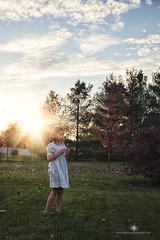 (Rebecca812) Tags: sunset portrait sunlight girl grass childhood vintage outdoors whimsy child dress blow dandelion carefree whitedress rebecca812