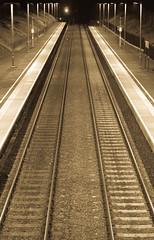 Empty Station (Richjack2003) Tags: station southwales night train dark 50mm platform tracks railway gowerton emptystation antiquelight