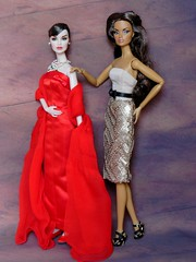 My new girls : Fashion Royalty (Antiphane) Tags: vanessa face fashion toys funny picture take sequins royalty anja integrity