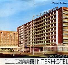 Interhotel Warnow, Rostock,  Brochure c 1977