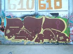 DSCF5343 (en-ri) Tags: parco muro wall writing torino graffiti dora giallo crew tots marrone 2015 reser