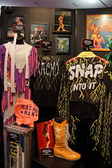 WWE Legend Macho Man Randy Savage outfit and photo displays at WWE Axxess event (Eric Broder Van Dyke) Tags: california man photo outfit event displays randy legend macho wwe savage 2015 axxess