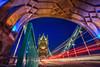 London (mudpig) Tags: longexposure bridge london night towerbridge unitedkingdom bluehour hdr gettyimages lighttrail lightstream mudpig stevekelley stevenkelley licensenow