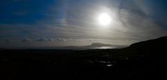 Phone panorama (Jan Egil Kristiansen) Tags: panorama sun seascape landscape island halo cylindric autopano hoyvk nlsoy img7021 img7026 meridianspirit owhc2 imo9369904