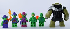 Behind the green (Alex THELEGOFAN) Tags: the ultimate spider man studios lego marvel villain mighty micros junior super heroes green goblin 76064 10687 76057 1374 4852 4851 76016 decorated headgear fond blanc