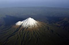 Taranaki and its Shadow (andrewrosspoetry) Tags: mountain snow volcano
